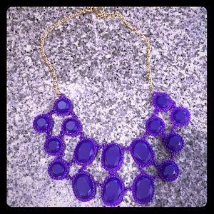 Kate Spade Purple gems bauble necklace